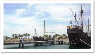 The caravelles of Christopher Columbus at Huelva