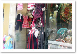 Traditional Flamenco dresses in Seville